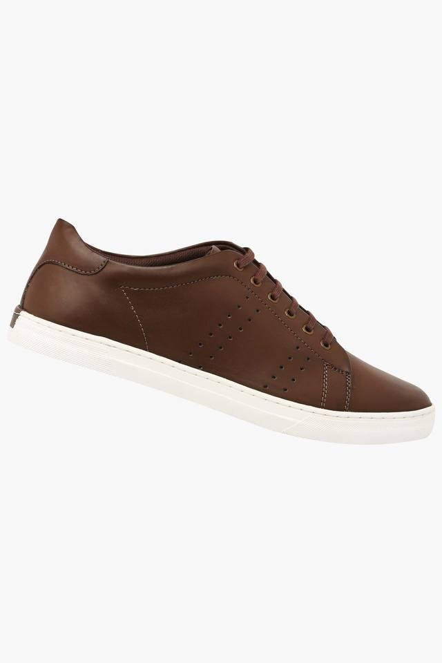 Mens Leather Lace Up Sneakers