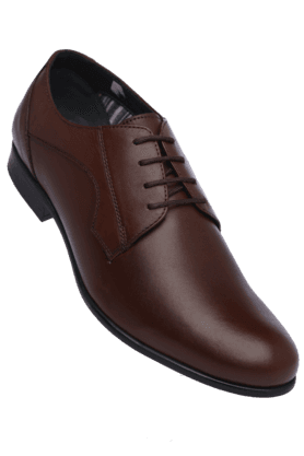 ALLEN SOLLY Mens Leather Lace Up Formal Shoe - 200164409