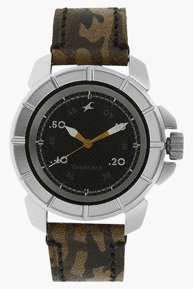 FASTRACKMens Commando Black Dial Analog Watch