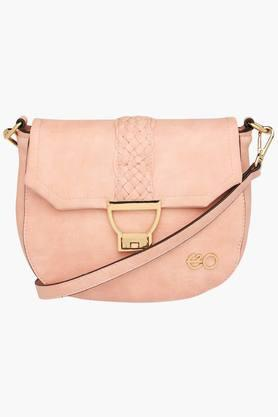 E2O Womens Zipper Closure Sling Bag - 201564196