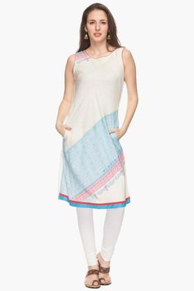 IMARA Womens Round Neck Printed Kurta (Buy Worth Rs.2500 & Get Rs.500. Off)