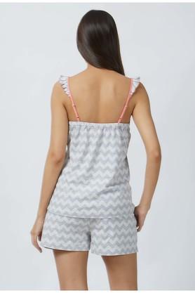 Womens Spaghetti Neck Stripe Shorts and Top Set