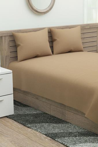 MASPAR -  Taupe Double Bed Sheets - Main
