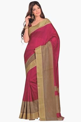 DEMARCA Womens Colour Block Pochampali Silk Saree