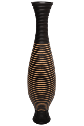 BACK TO EARTHDual Color Ring Wood Vase