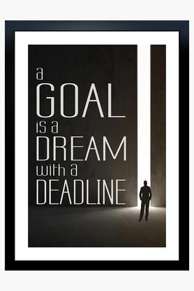 CRUDE AREA Multi Colour A Goal Is A Dream Printed Paper Poster  ...