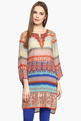 FUSION BEATS Women Printed Tunic