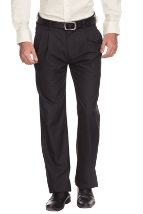 ARROW Mens Flat Front Slim Fit Solid Formal Trouser