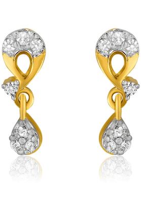 MAHIMahi Gold Plated Numinous Earrings With CZ Stones For Women ER1191979G