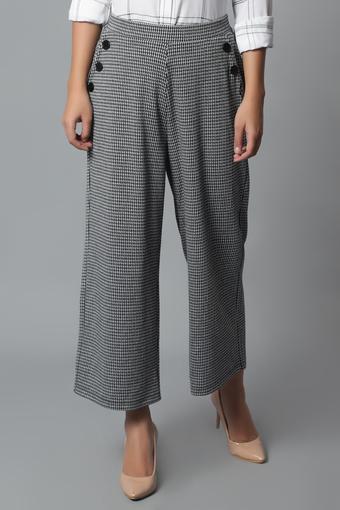 STOP -  Black & WhiteTrousers & Pants - Main