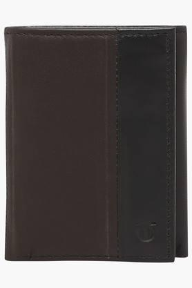 TITAN Mens Leather 2 Fold Wallet