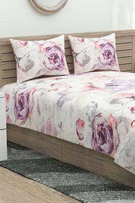 Floral Printed Flat Sheet with Pillow Cover