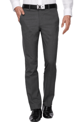 LOUIS PHILIPPE Mens Slim Fit Solid Formal Trouser - 200579702