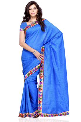 DEMARCA De Marca Blue Art Silk Designer DF-199C Saree