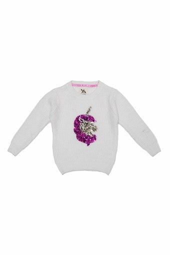 YELLOW APPLE -  WhiteJackets  & Sweatshirts - Main