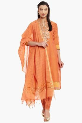 BIBA Womens Poly Cotton Straight Suit Set - 202179764