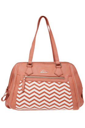 LAVIE Womens Leather 2 Compartment Dome Satchel