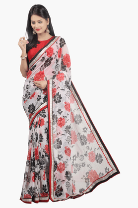 JASHN Womens Printed Saree - 201502672