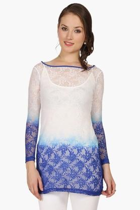 IRA SOLEIL Womens Slim Fit Colour Block Kurta With Inner (Buy Any Ira Soleil Product And Get A Necklace Free)