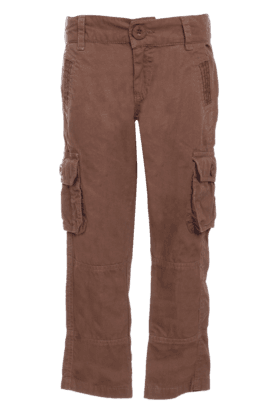 Boys Cotton 6 Pocket Solid Trouser