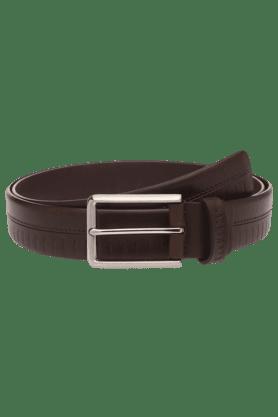 VAN HEUSENMens Brown Leather Belt