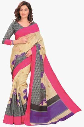 DEMARCA Womens Printed Cotton Saree - 201811330