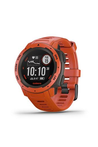 Unisex Instinct Flamed Red Silicone Smart Watch