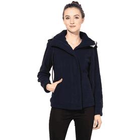 THE VANCAWomen Polar Fleece Jacket In Navy Blue Color