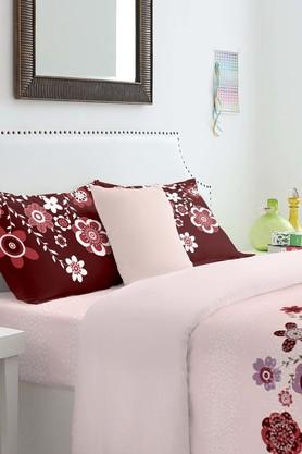 SPACES Cotton Floral King Bedsheet With Pillow Cover - 201613139