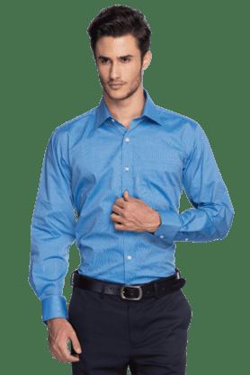 656a2ce413 X LOUIS PHILIPPE Mens Full Sleeves Slim Fit Formal Slub Shirt
