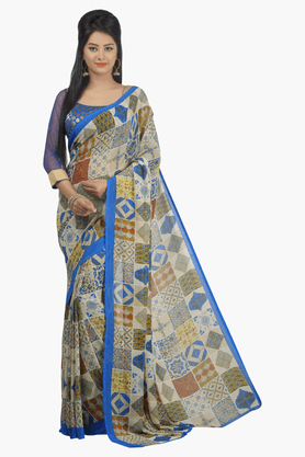 JASHN Womens Printed Saree - 201502457