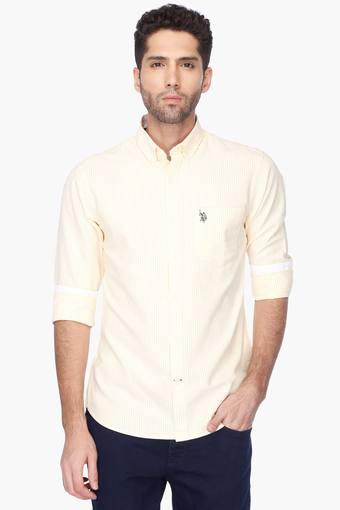 U.S. POLO ASSN. -  Yellow Casual Shirts - Main