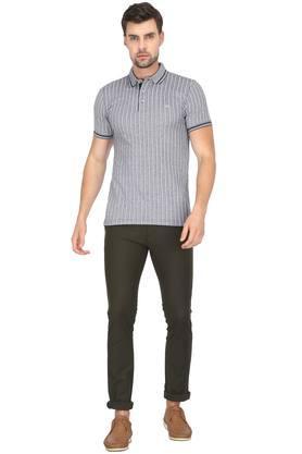Mens Striped Polo T-Shirt
