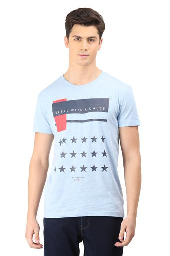 OCTAVE -  Blue MelangeT-shirts - Main