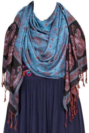 TASSELS -  BlueScarf & Stoles - Main