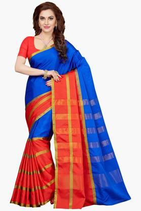 Women Bhagalpuri Art Silk Zari Border Saree - 202528728