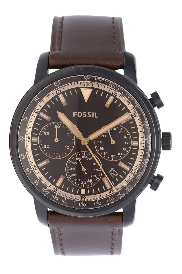 Mens Brown Dial Chronograph Watch - FS5529I