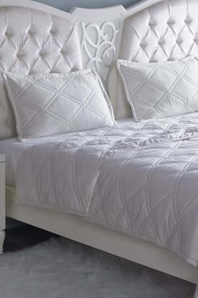 STOA PARIS Ivory Quilted Bedspread Or Comforter With Pillow Covers (Comforter Set (King)