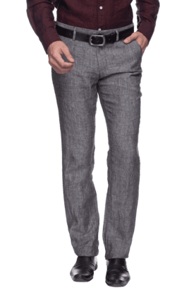 INDIAN TERRAIN Mens Flat Front Slim Fit Solid Formal Trouser