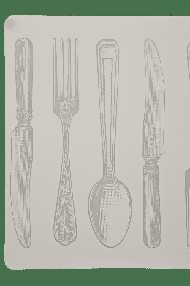 Peva White Fork Placemat - Set Of 2