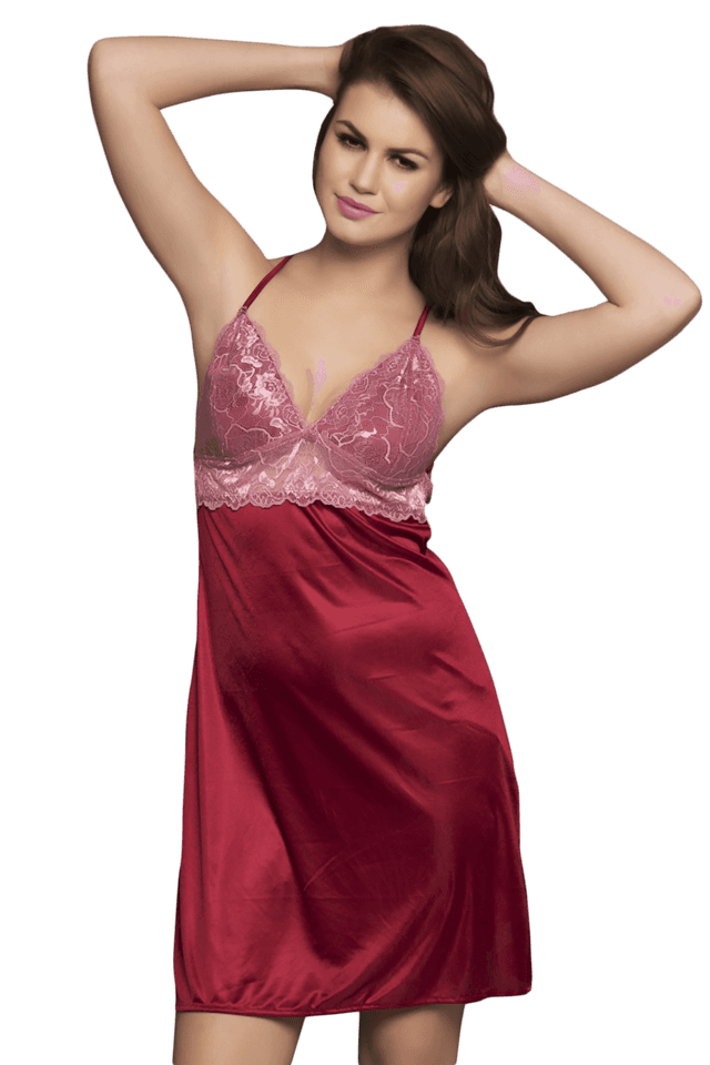 8d70188003 Buy CLOVIA 2 Pc Premium Satin Nightwear