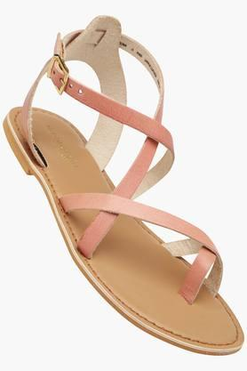 Womens Casual Wear Buckle Closure Flat Sandals - 202384109