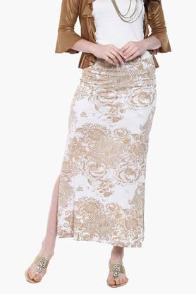 IRA SOLEILWomens Printed Skirt