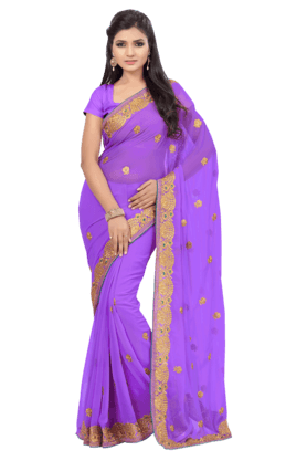 DEMARCA Womens Embroidered Saree - 201100277
