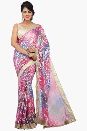 JASHN Womens Printed Saree With Blouse Piece - 201313003