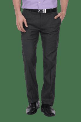 ARROWMens 4 Pocket Flat Front Slim Fit Check Formal Trouser