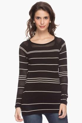 VAN HEUSEN Womens Stripe Knitted Top