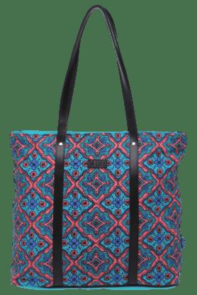 LIFEWomens Leather Printed Casual Zipper Closure Tote Handbag
