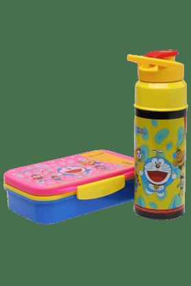 Unisex Chhota Bheem Water Bottle and Tiffin Box Combo Set