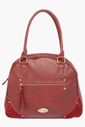 STOP Womens Zipper Closure Satchel